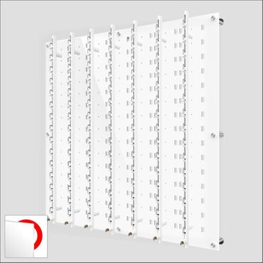 DW31-105F Open or Locking Wall mount Acrylic Optical Display with Hardware- 47.5 inch H