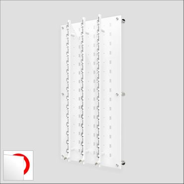 DW31-45F Locking Wall mount Acrylic Optical Display with Hardware- 47.5 inch (H)