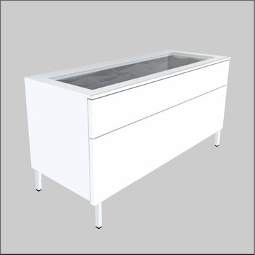 Floor-Top Glass-Top Cabinets – 36.6 inches (930 mm)