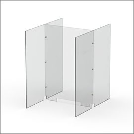 Modular Expandable Double-sided SneezeaGuards 24.882(W) x 35.433(H) x 31.89(D) inches- Set YAY