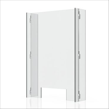 """Clear 1/4"""" Plexiglass Protective Sneeze Guard & Shield For Counters - 23.6"""" x 35.4"""""""