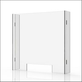 """Clear 1/4"""" Plexiglass Protective Sneeze Guard & Shield For Counters - 35.9"""" x 35.4"""""""