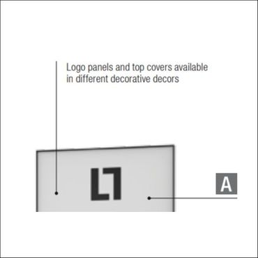 Top cover for LL-WALL SHOWCASES WLL 7/9