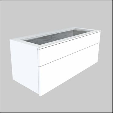 Wall mount Glass-Top Cabinets – 36.6 inches (930 mm)