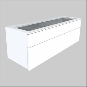 Wall mount Glass-Top Cabinets – 47.25 inches (1200 mm)