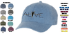 CANVAS ADJUSTABLE BASEBALL CAP - ALIVE EMB LOGO