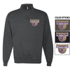 BASIC 1/4 ZIP CREW NECK SWEATSHIRT