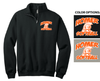 FAN 1/4 ZIP CREW SWEATSHIRT