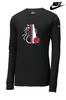NIKE CORE COTTON MEGAPHONE LONG SLEEVE TEE