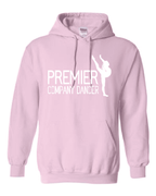 PINK DANCER HOODIE - GLITTER PRINT  YOUTH & ADULT