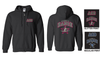 BLACK FULL ZIP HOODED SWEATSHIRT - ADULT & YOUTH