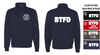 BTFD 1/4 ZIP CREW SWEATSHIRT - ADULT ONLY