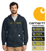 CARHARTT WORKWEAR MID-WEIGHT FULL ZIP HOODED SWEATSHIRT