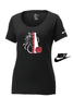 WOMEN'S NIKE CORE COTTON MEGAPHONE TEE
