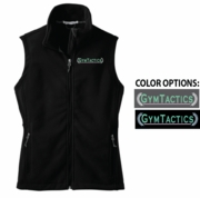 FULL ZIP FLEECE VEST - WOMEN'S SIZING