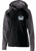 FULL ZIP SOFT SHELL JACKET WITH HOOD - WOMEN'S