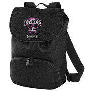 GLITTER BACK PACK - EMB LOGO & NAME