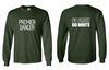 GO GREEN LONG SLEEVE TEE - ADULT ONLY