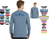 LONG SLEEVE PIGMENT DYED POCKET T-SHIRT - ALIVE LOGO