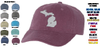 CANVAS ADJUSTABLE BASEBALL CAP - MICHIGAN EMB LOGO