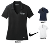 LADIES NIKE DRI-FIT VERTICAL MESH GOLF SHIRT