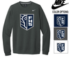 NIKE COTTON/POLY CREW NECK SWEATSHIRT