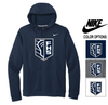NIKE COTTON/POLY HOODED SWEATSHIRT