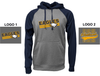 2 TONE PERFORMANCE HOODED SWEATSHIRT - ADULT AND YOUTH