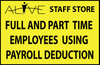 STAFF USING PAYROLL DEDUCTION