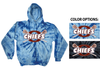 TIE DYE  HOODED SWEATSHIRT - YOUTH & ADULT
