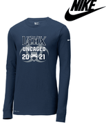 UNCAGED NIKE COTTON/POLY DRI-FIT LONG SLEEVE TEE - ADULT ONLY