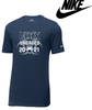 UNCAGED NIKE COTTON/POLY DRI-FIT TEE - ADULT ONLY
