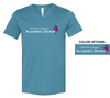 V-NECK T-SHIRT WITH FULL FRONT LOGO - ADULT ONLY