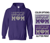 VOLLEYBALL MOM HOODIE - GLITTER FRONT PRINT