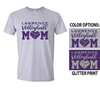VOLLEYBALL MOM TEE - GLITTER PRINT