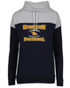 WOMEN'S FOOTBALL COWL NECK SWEATSHIRT