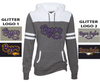WOMEN'S GAME DAY HOODIE - GLITTER PRINT