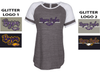 WOMEN'S GAME DAY T-SHIRT - GLITTER PRINT