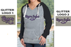 WOMEN'S GARMENT WASHED HOODIE - GLITTER PRINT