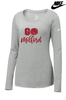 "WOMEN'S NIKE CORE COTTON ""GO MILFORD"" LONG SLEEVE T-SHIRT"