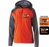 WOMEN'S SOFT SHELL FULL ZIP JACKET WITH HOOD