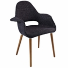 Modway Aegis Dining Upholstered Fabric Armchair in Black MY-EEI-555-BLK