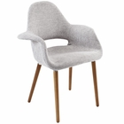 Modway Aegis Dining Upholstered Fabric Armchair in Light Gray MY-EEI-555-LGR