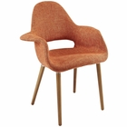 Modway Aegis Dining Upholstered Fabric Armchair in Orange MY-EEI-555-ORA