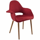 Modway Aegis Dining Upholstered Fabric Armchair in Red MY-EEI-555-RED