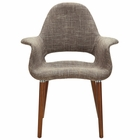 Modway Aegis Dining Upholstered Fabric Armchair in Taupe MY-EEI-555-TAU