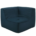 Modway Align Upholstered Fabric Corner Sofa in Azure MY-EEI-1356-AZU
