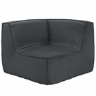 Modway Align Upholstered Fabric Corner Sofa in Charcoal MY-EEI-1356-CHA
