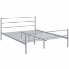 Modway Alina Queen Platform Steel Bed Frame in Gray MY-MOD-5553-GRY-SET