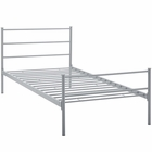 Modway Alina Twin Platform Steel Bed Frame in Gray MY-MOD-5551-GRY-SET
